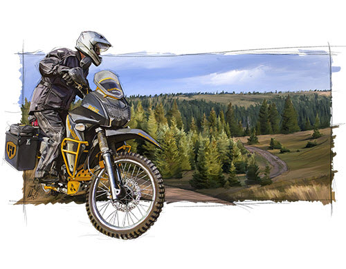 Happy Trails Pannier Luggage Motorcycle Enduro Luggage For KLR 650 and All Other Adventure Bikes!